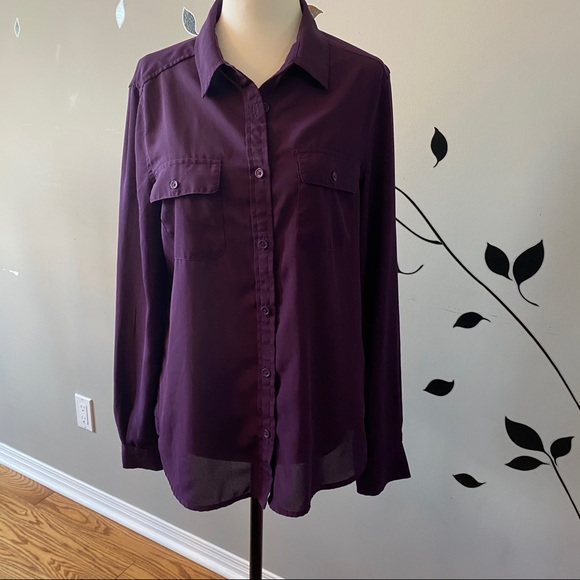 American Eagle Outfitters semi sheer blouse